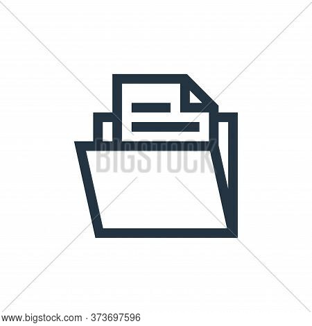 folder icon isolated on white background from management collection. folder icon trendy and modern f