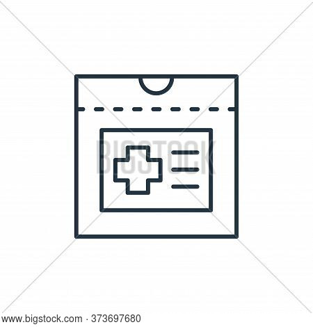 medical report icon isolated on white background from retirement collection. medical report icon tre