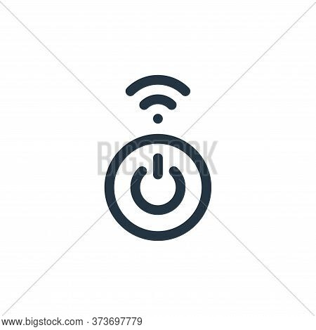 Turn On Vector Icon From Internet Of Things Collection Isolated On White Background