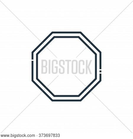 stop icon isolated on white background from signaling collection. stop icon trendy and modern stop s
