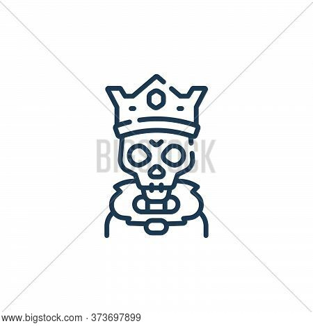 skeleton icon isolated on white background from fantastic characters collection. skeleton icon trend