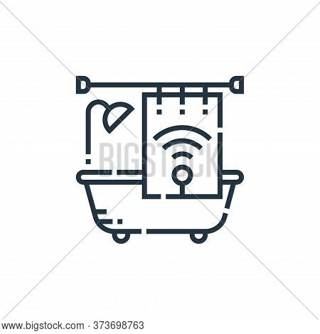 bathroom icon isolated on white background from smarthome collection. bathroom icon trendy and moder