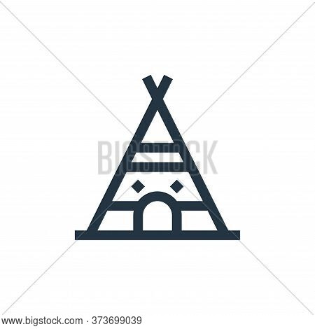 indian tent icon isolated on white background from history collection. indian tent icon trendy and m