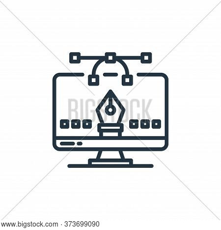 graphic design icon isolated on white background from elearning collection. graphic design icon tren