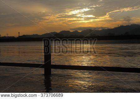 An Beautiful Sky At The Coast Of River Ganga.
