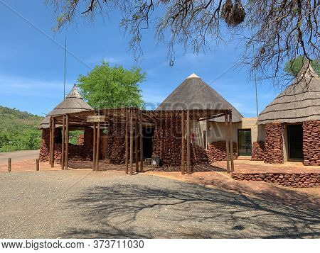 Punda Maria Gate Reception, Kruger National Park, South Africa, December 14, 2019: Reception At Pund