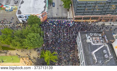 Seattle, Wa/usa  June 3: Street View Protesters Create A Mob Scene For George Floyd And The Blm In S
