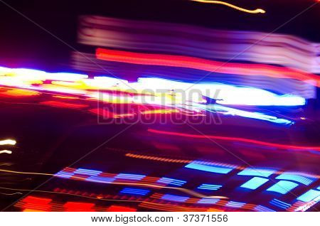 Abstract Police Lights