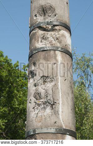 Borodino Battle Memorial. Utitsky Mound. Monument To The 17th Infantry Division Of General Z.d. Olsu