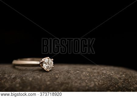 Luxury Engagement Diamond Ring. Gold Ring With Diamond