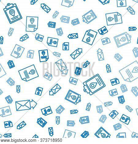 Set Line Envelope, Document Tracking Marker System And Document Tracking Marker System On Seamless P