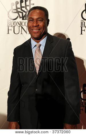 NEW YORK-SEPT. 24: Former Miami Dolphins football player Nat Moore attends the 27th Great Sports Legends Dinner for the Buoniconti Fund at the Waldorf-Astoria on September 24, 2012 in New York City.