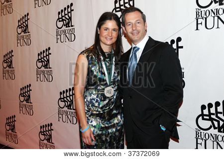 NEW YORK-SEPT. 24: Former LPGA golfer Lorena Ochoa and husband Andres Conesa Labastida attend the 27th Great Sports Legends Dinner at the Waldorf-Astoria on September 24, 2012 in New York City.