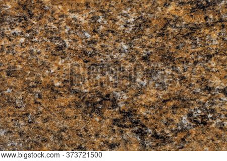 Grainy Dark Brown Background With Pink And Black Spots. Texture Backdrop With Small Crumb Pattern Fo