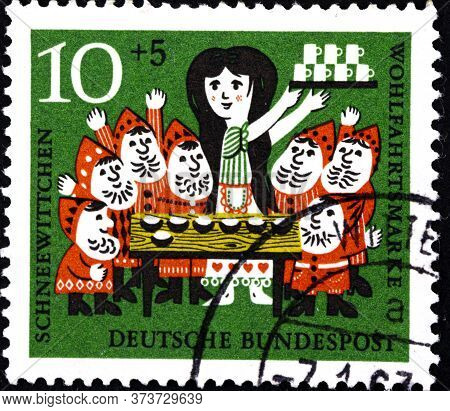 02 08 2020 Divnoe Stavropol Territory Russia The Germany Postage Stamp 1962 Charity Stamps - Snow Wh