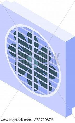 Air Condition Ventilation Icon. Isometric Of Air Condition Ventilation Vector Icon For Web Design Is