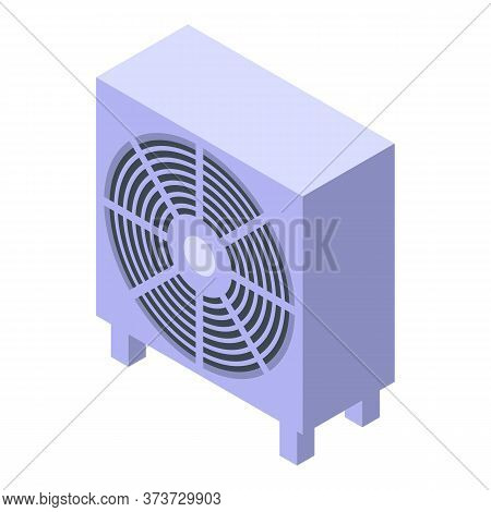 Commercial Ventilation Icon. Isometric Of Commercial Ventilation Vector Icon For Web Design Isolated