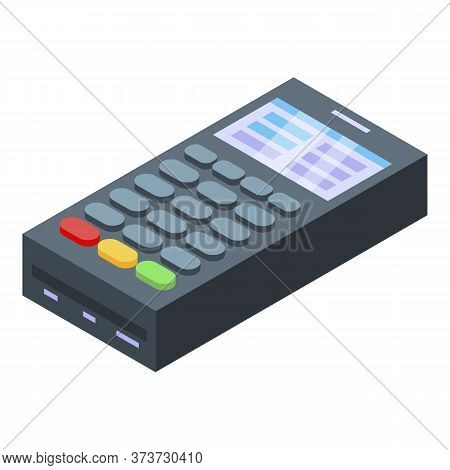 Payment Terminal Icon. Isometric Of Payment Terminal Vector Icon For Web Design Isolated On White Ba