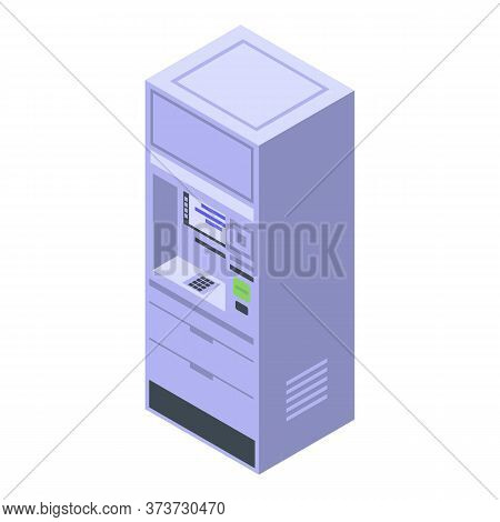 Bank Atm Icon. Isometric Of Bank Atm Vector Icon For Web Design Isolated On White Background