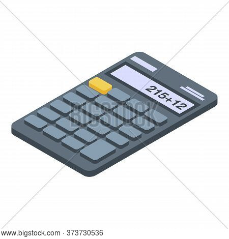 Accounting Calculator Icon. Isometric Of Accounting Calculator Vector Icon For Web Design Isolated O
