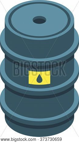 Trader Barrel Icon. Isometric Of Trader Barrel Vector Icon For Web Design Isolated On White Backgrou