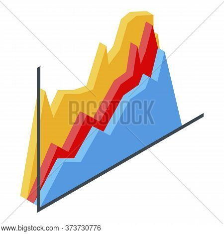 Trader Graph Chart Icon. Isometric Of Trader Graph Chart Vector Icon For Web Design Isolated On Whit