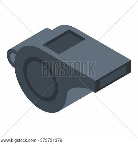 Gym Whistle Icon. Isometric Of Gym Whistle Vector Icon For Web Design Isolated On White Background