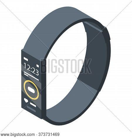 Fitness Bracelet Icon. Isometric Of Fitness Bracelet Vector Icon For Web Design Isolated On White Ba