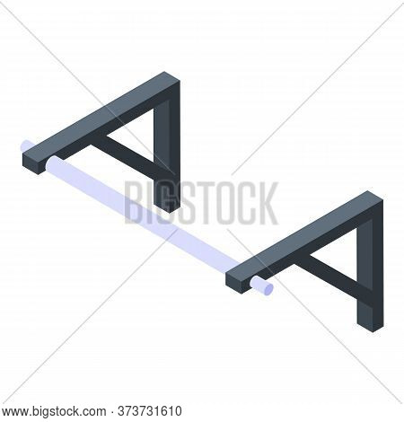 Gym Fix Bar Icon. Isometric Of Gym Fix Bar Vector Icon For Web Design Isolated On White Background