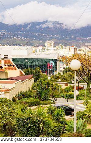 Fuengirola, Malaga, Spain - January 25, 2020: Cityspace With Miramar Shopping Centre In Fuengirola C
