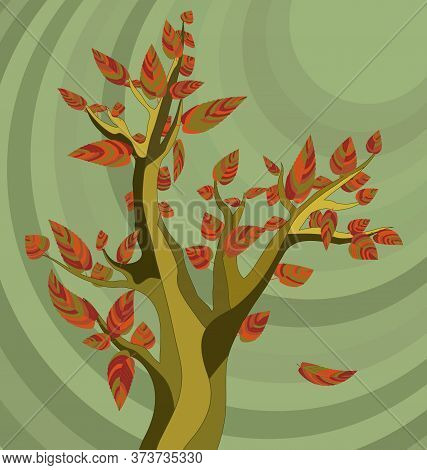 Background Image Of The Abstract Autumn Tree