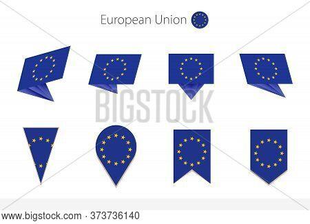 European Union National Flag Collection, Eight Versions Of European Union Vector Flags. Vector Illus