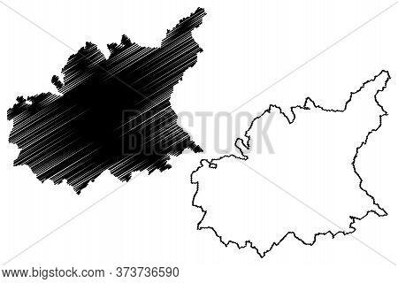 Alpes-de-haute-provence Department (france, French Republic, Provence-alpes-cote Dazur Region) Map V