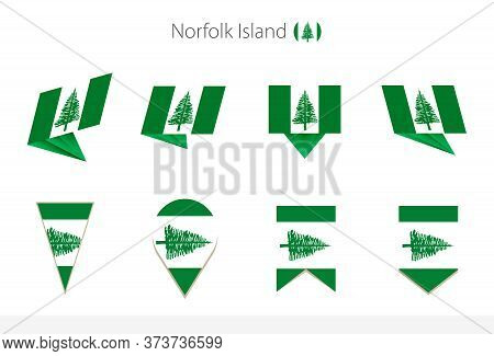 Norfolk Island National Flag Collection, Eight Versions Of Norfolk Island Vector Flags. Vector Illus