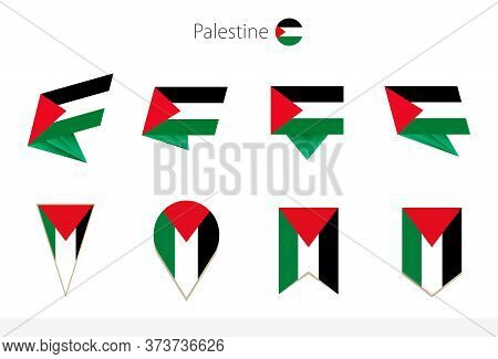Palestine National Flag Collection, Eight Versions Of Palestine Vector Flags. Vector Illustration.