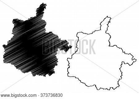 Ardennes Department (france, French Republic, Grand Est Region) Map Vector Illustration, Scribble Sk