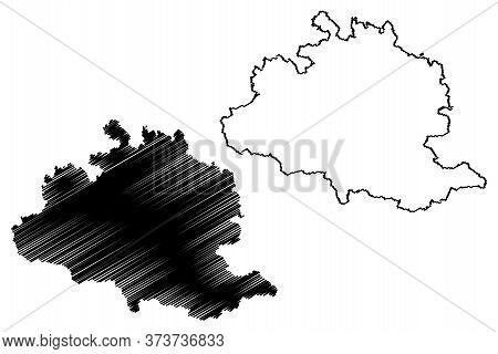 Ariege Department (france, French Republic, Occitanie Or Occitania Region) Map Vector Illustration,