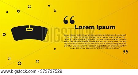 Black Windshield Icon Isolated On Yellow Background. Vector Illustration