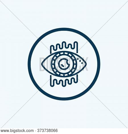 Bionic Contact Lens Vector Icon On White Background. Flat Vector Bionic Contact Lens Icon Symbol Sig
