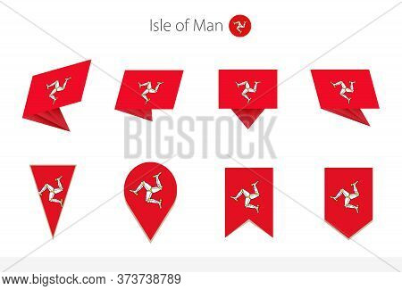 Isle Of Man National Flag Collection, Eight Versions Of Isle Of Man Vector Flags. Vector Illustratio