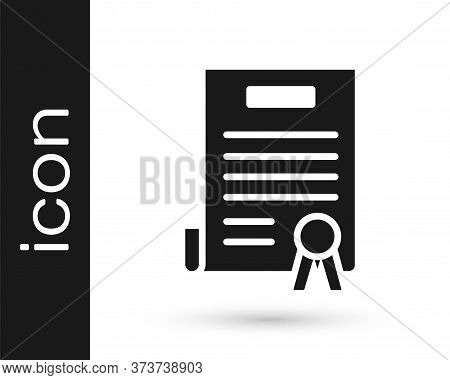 Grey Declaration Of Independence Icon Isolated On White Background. Vector Illustration