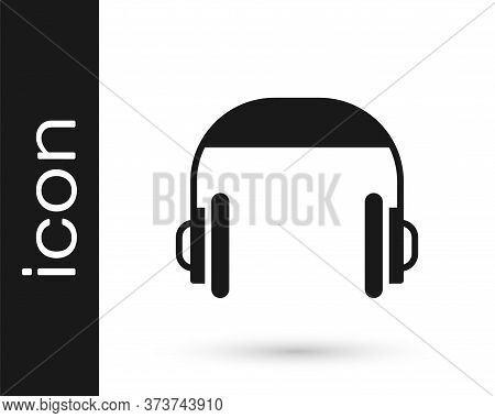 Grey Headphones Icon Isolated On White Background. Support Customer Service, Hotline, Call Center, F