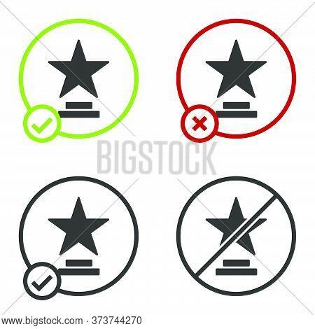 Black Movie Trophy Icon Isolated On White Background. Academy Award Icon. Films And Cinema Symbol. C