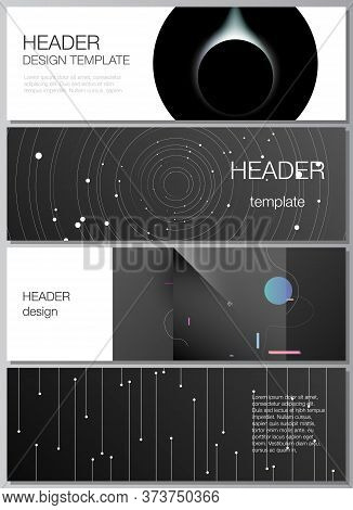 Vector Layout Of Headers, Banner Design Templates For Website Footer Design, Horizontal Flyer, Websi