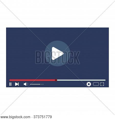 Play Video User Interface, Web Player For Watch Clip Movie. Play Media In Video Player, Watch Online