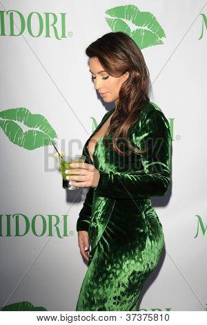 SANTA MONICA - SEP 25: Kim Kardashian at the Midori Makeover Parlour at Fred Segal on September 25, 2012 in Santa Monica, California