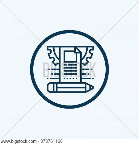 Cms Icon, Content Management System, Vector, Eps 10 File, Easy To Edit