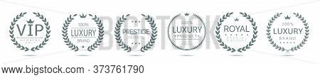 Luxury, Prestige Products And Vip Labels. Laurel Wreath Set