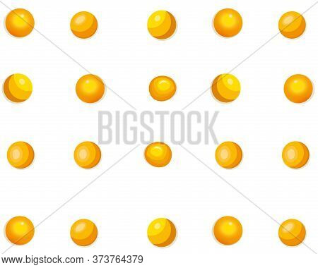 Chicken Egg Yolk Seamless Pattern On Transparent Background. Yolk Background For Poultry Farming Pro