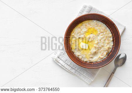 Oatmeal Porridge With Butter